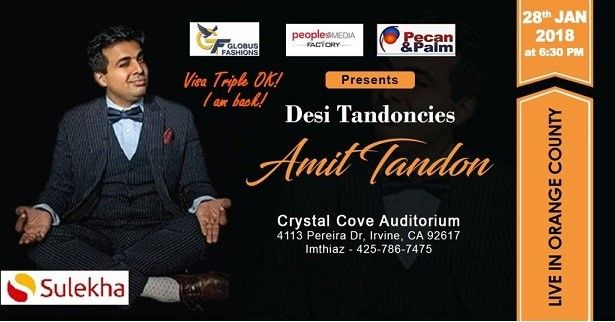 Amit Tandon Live Stand-Up in Orange County, CA