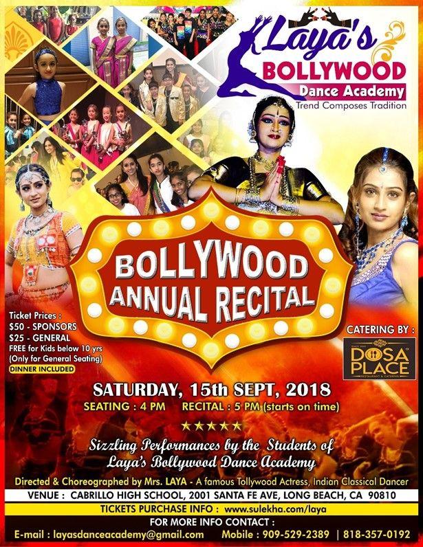 Bollywood Annual Recital By Laya's Bollywood Dance Academy