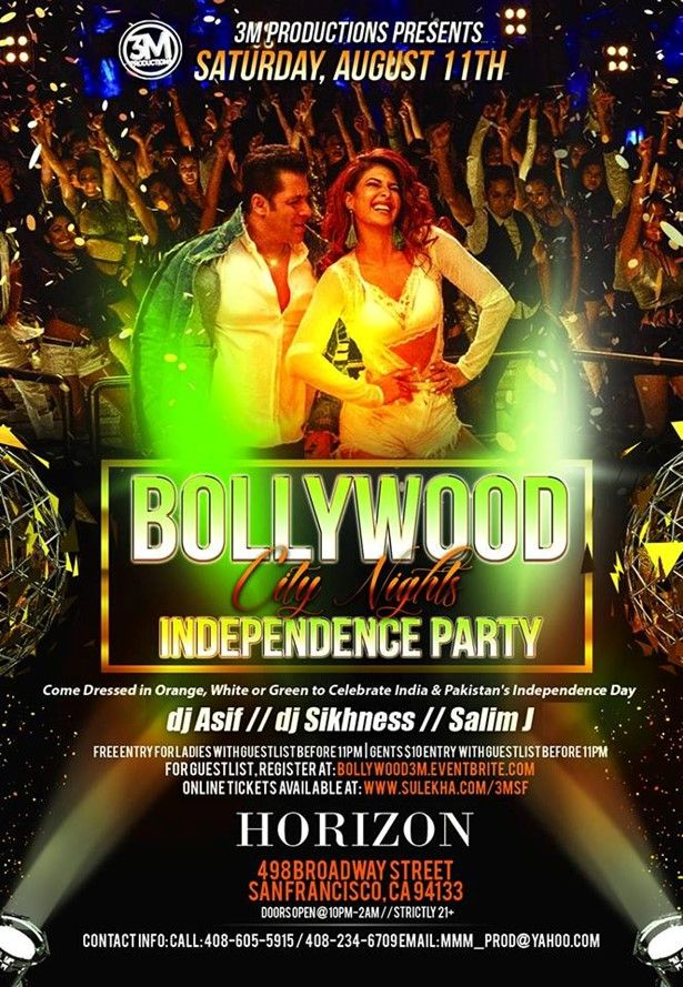 Bollywood City Nights - Independence Bollywood Party