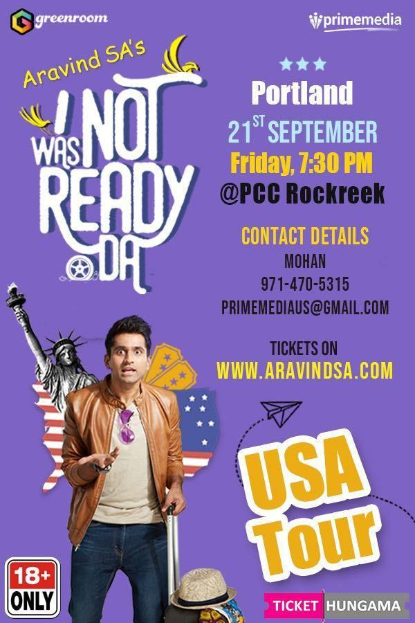 Aravind SA Stand Up Comedy Live in Portland