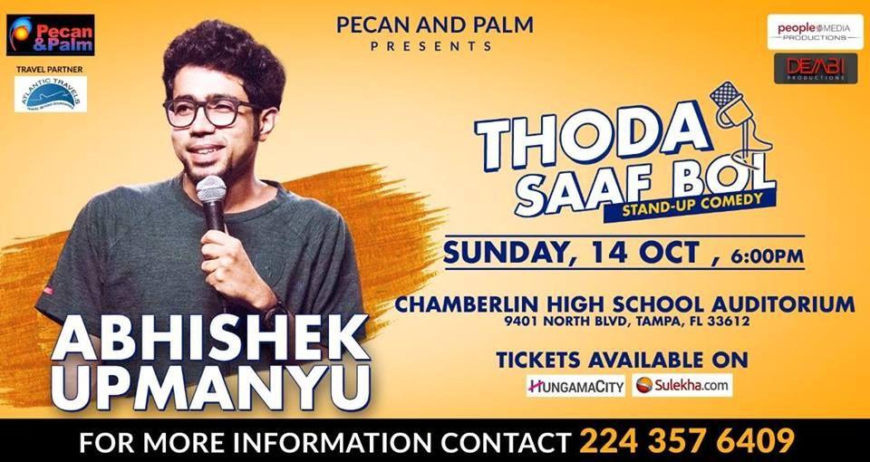 Abhishek Upmanyu Stand up Comedy Live 2018 in Tampa
