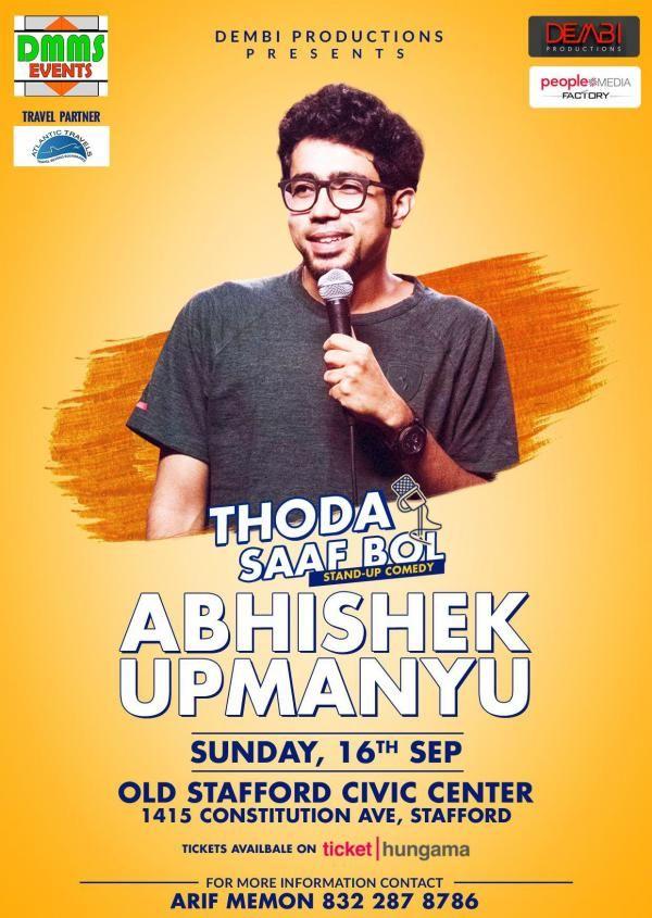 Abhishek Upmanyu Stand-Up Comedy Live