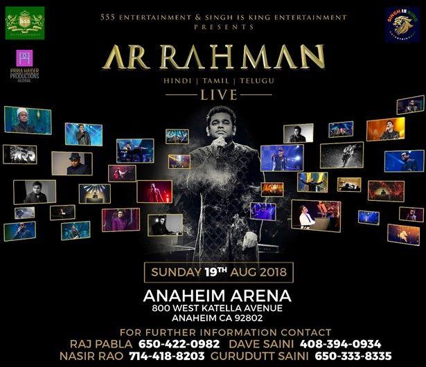 AR Rahman Live Concert 2018 Los Angeles