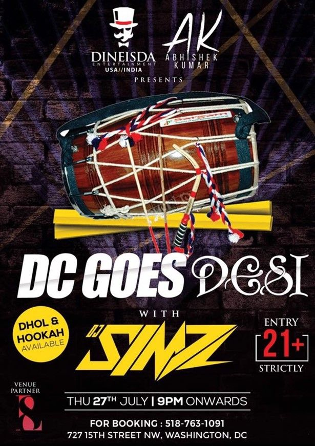 DC Goes Desi - Bollywood Night with Dhol