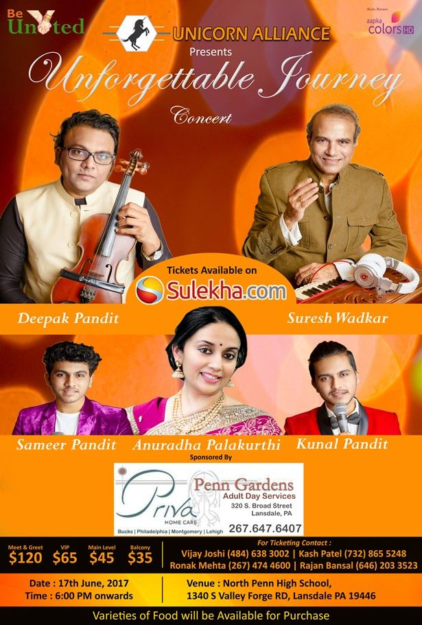 Unforgettable Musical Journey with Suresh Wadkar & Deepak Pandit presented by Un
