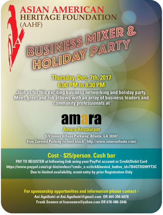 Business Mixer and Holiday party