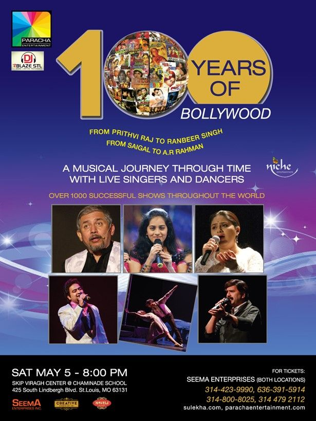100 Years Of Bollywood - A musical Journey in MO