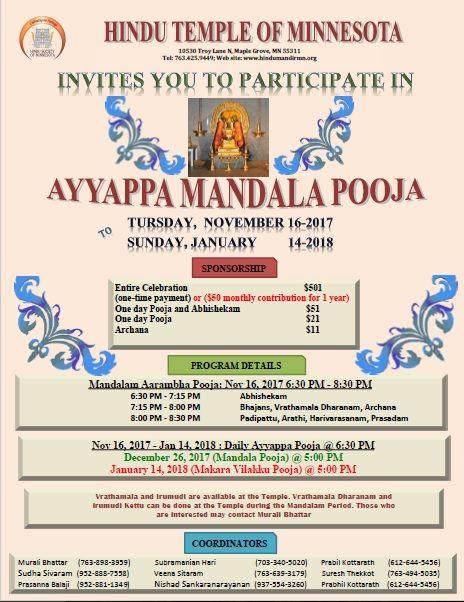 Ayyappa Mandala Pooja