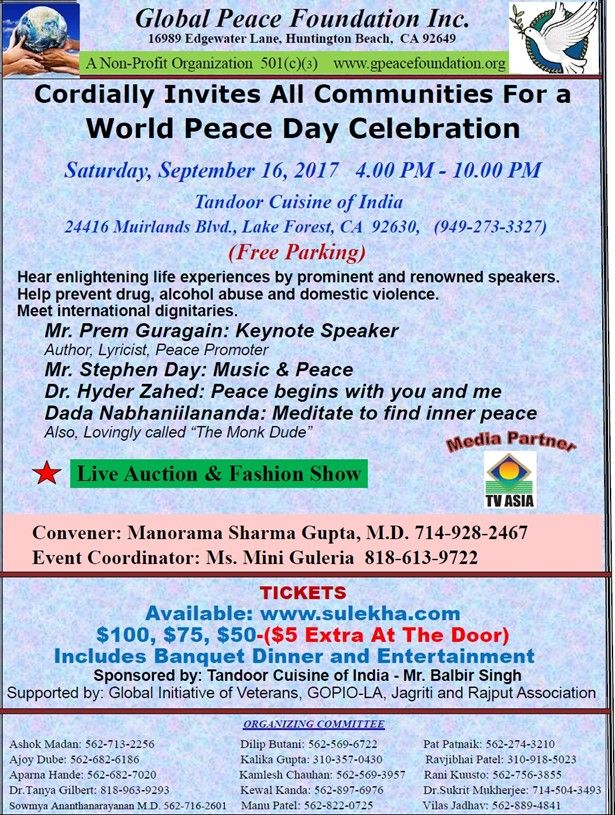 World Peace Day Celebration