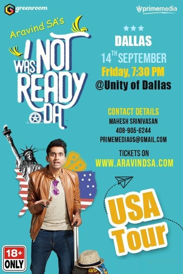 Aravind SA Stand-Up-Comedy Live in Dallas