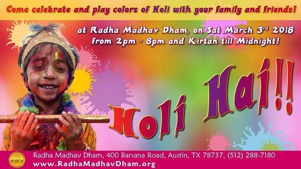 Holi Celebrations 2018 in Austin