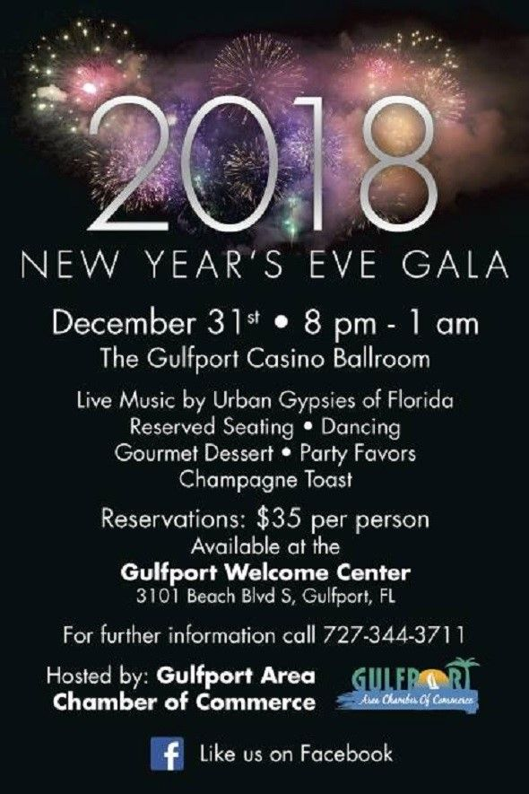 New Year's Eve Gala 2018 in Gulfport