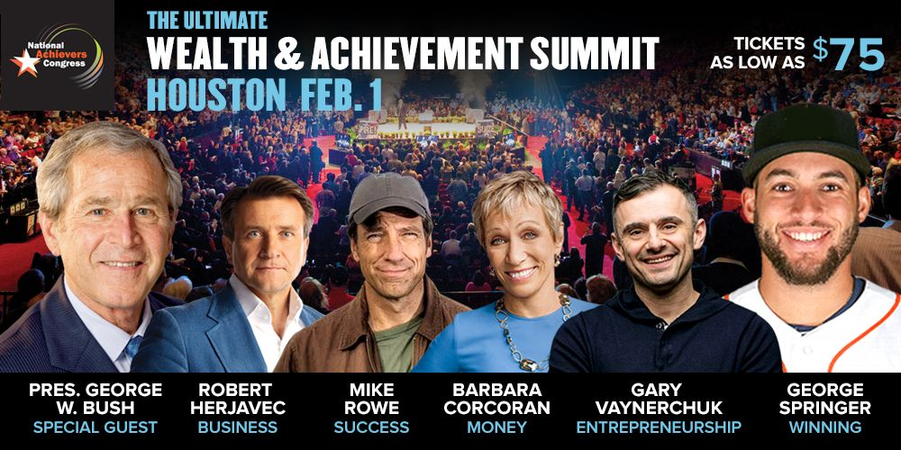 Barbara Corcoran, Gary Vaynerchuk, Mike Rowe Live! Houston
