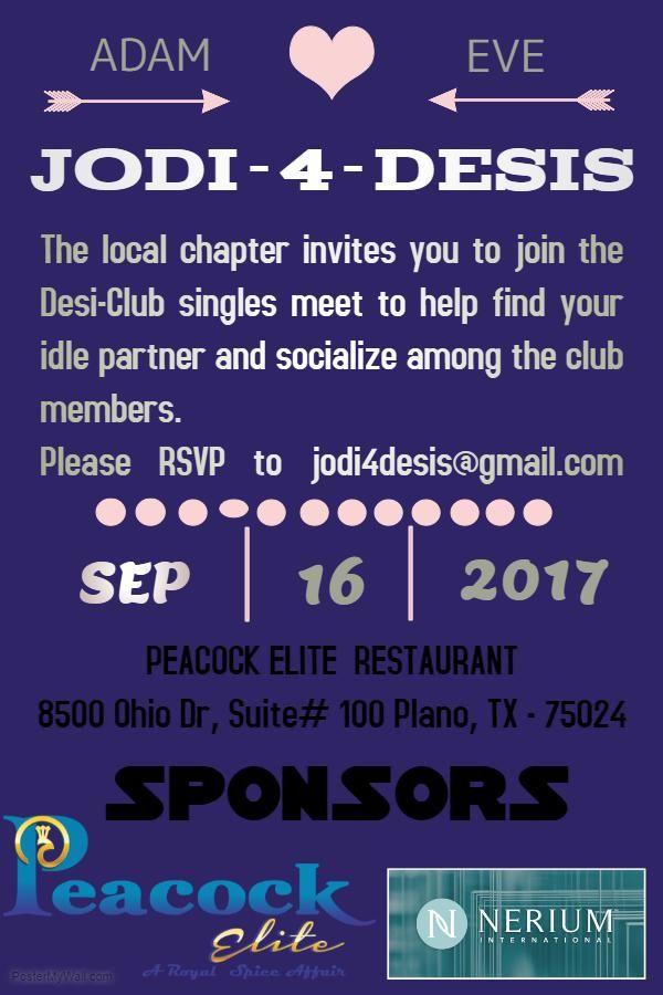 Jodi-4-Desis Singles Club Meetup