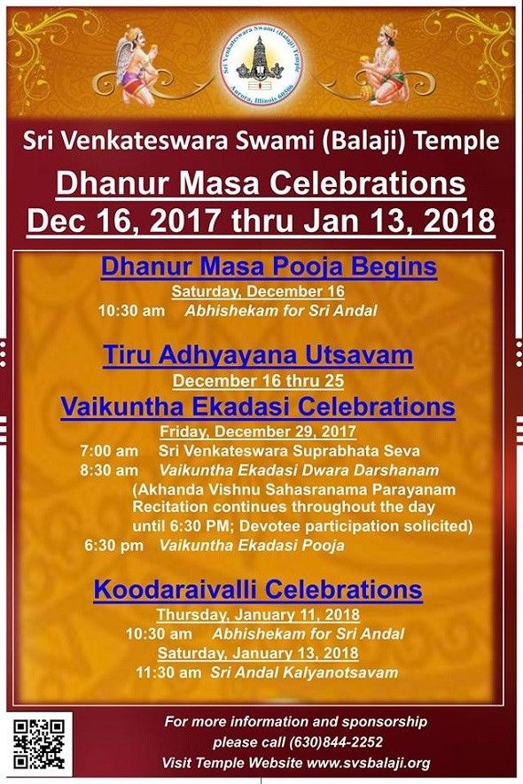 Dhanur Masa Celebrations