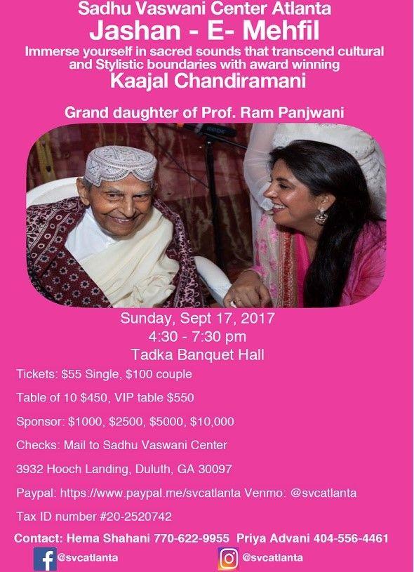 Sadhu Vaswani Center Atlanta - Jashan - E- mehfil