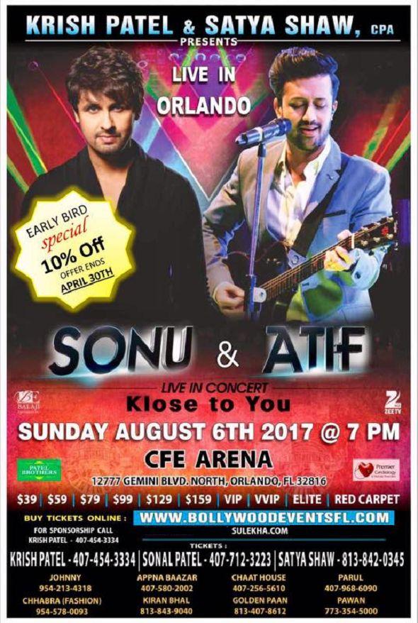 Sonu Nigam & Atif Aslam Live In concert Orlando