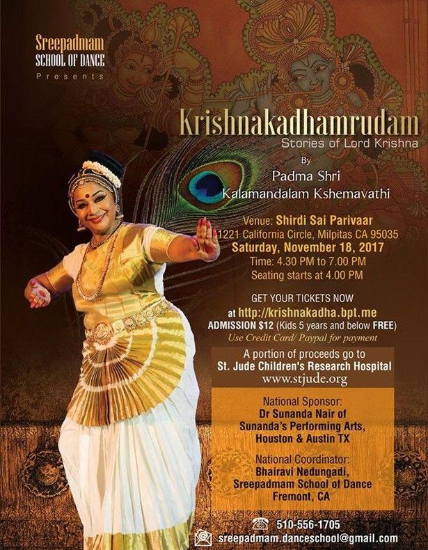 Krishnakadhamrudam - Mohiniyattam led by Guru PadmaShri Kshemavathi