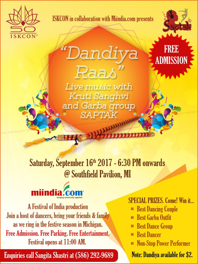 Live Dandiya-Raas by Saptak in Michigan