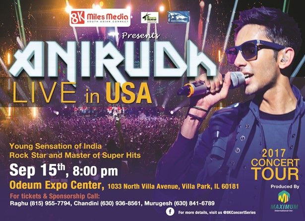 Anirudh Live Concert in Chicago