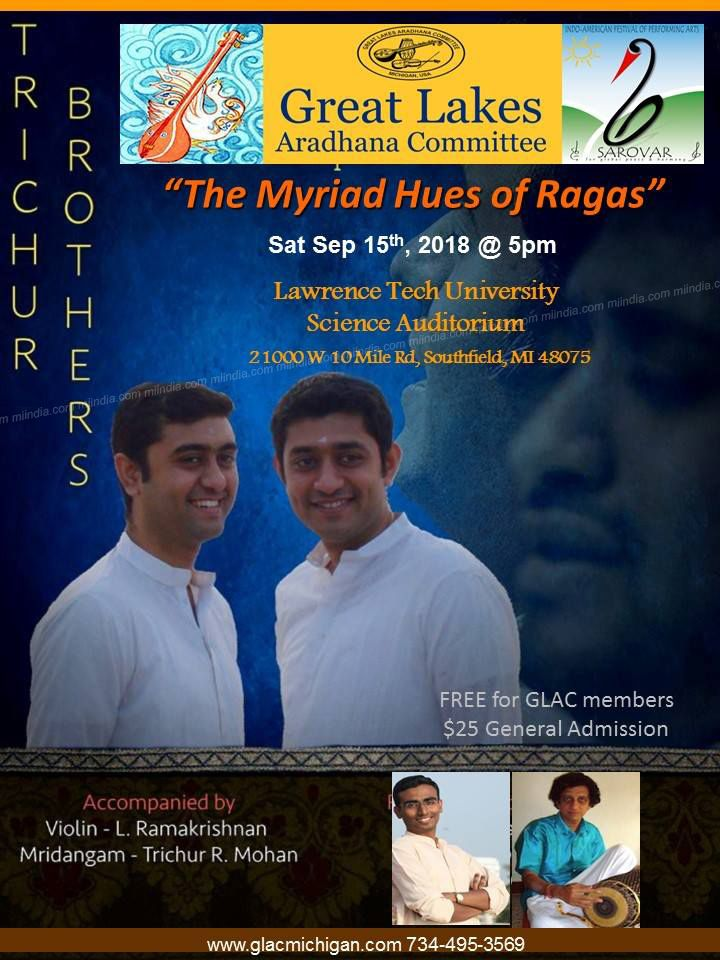 The Myriad Hues of Ragas - Trichur Brothers Live in Michigan
