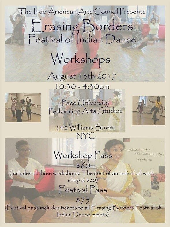 Erasing Borders Festival Of Indian Dance Workshops