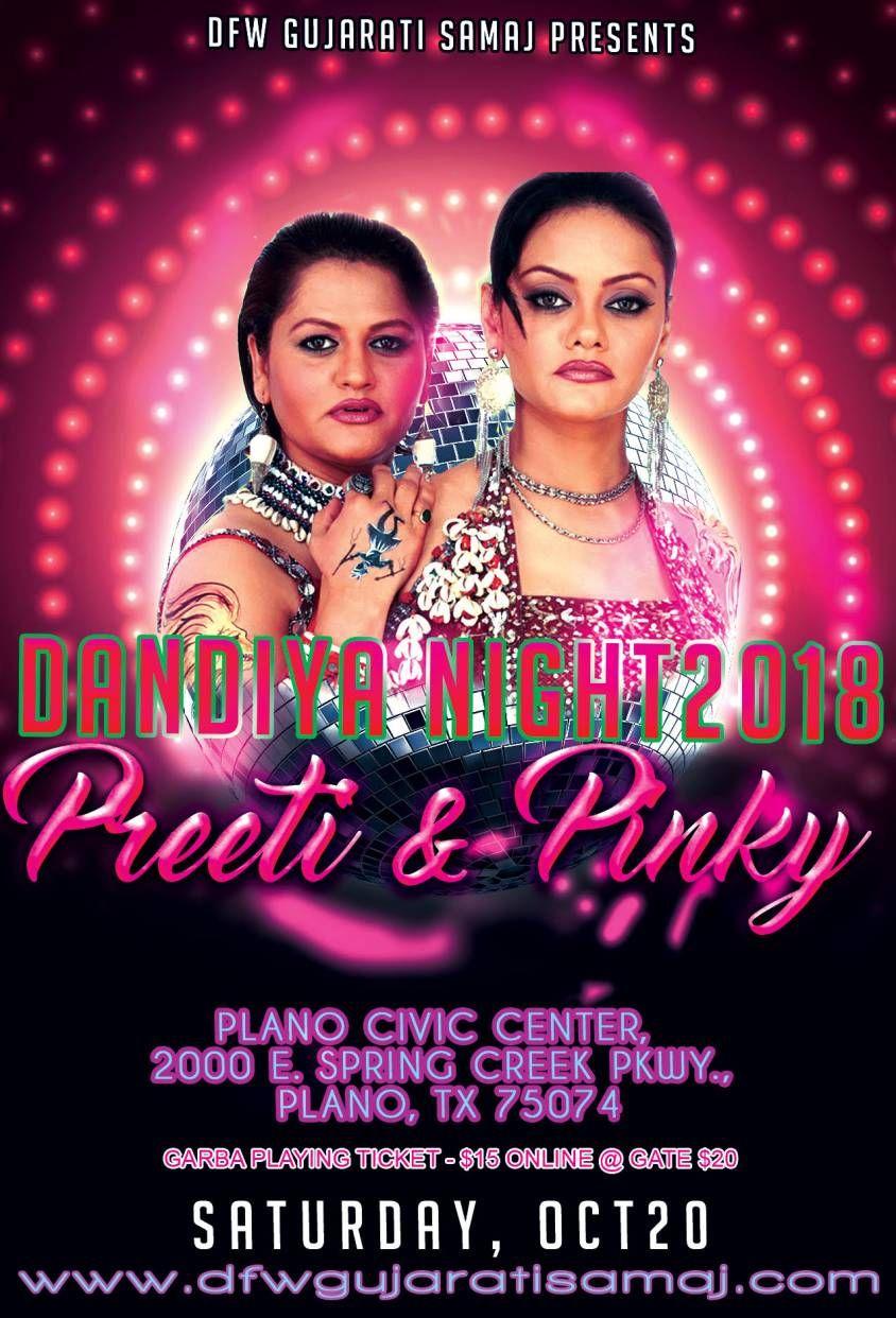 Garba and Dandia with Preeti & Pinky