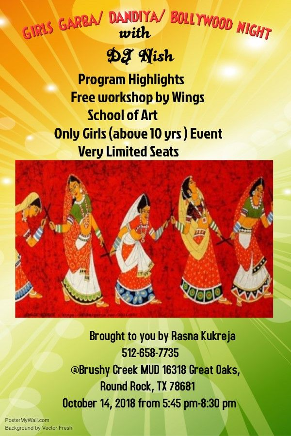 Girls Garba Dandia Night with DJ Nish