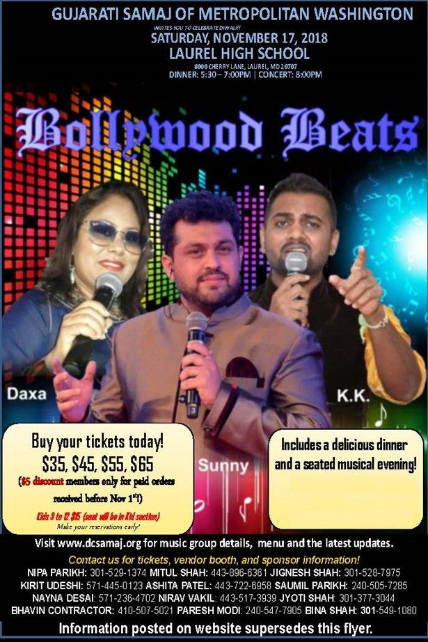 Diwali dinner and concert by Bollywood singer Sunny Jadhav - Bollywood Beats