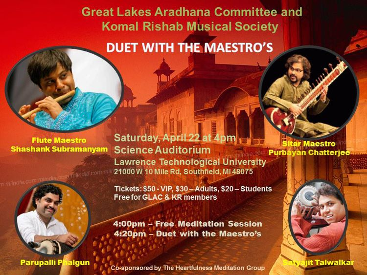 Duet with the Maestros: Flute and Sitar Jugalbandhi