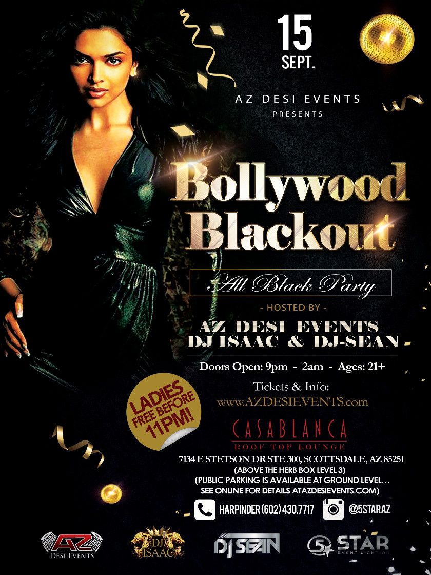 Bollywood Blackout - All Black Party