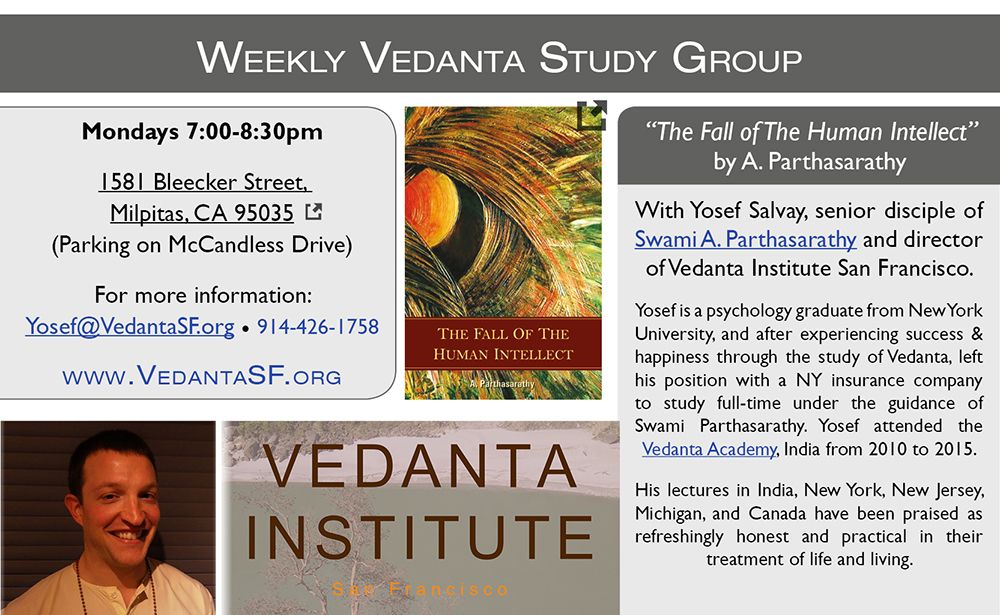 Weekly class on Vedanta in Milpitas