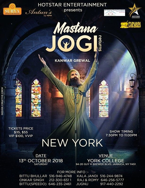 Kanwar Grewal Mastana Jogi Return in New York