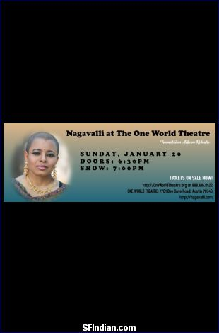 Nagavalli at the One World Theatre: 'Immersion' album release