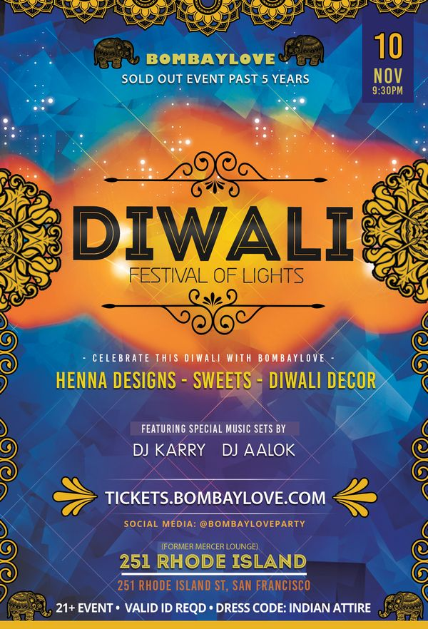 Diwali 2018 !! Bollywood Party feat BombayLove