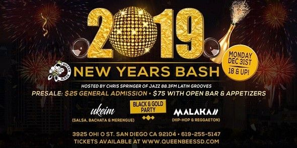 c78e8978c03d New Years Eve Bash 2019 in Queen Bee's Art and Cultural Center San Diego