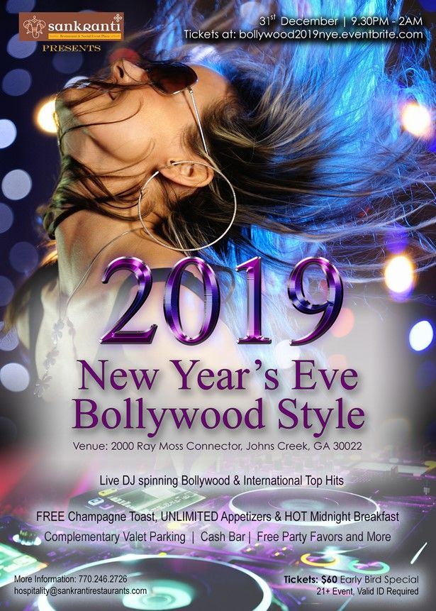 2019 New Year's Eve Bollywood Desi Party in Atlanta