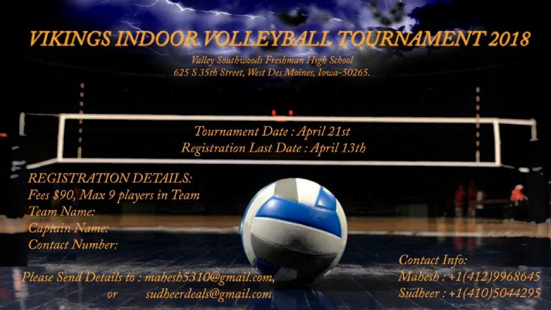 Vikings indoor volleyball tournament 2018