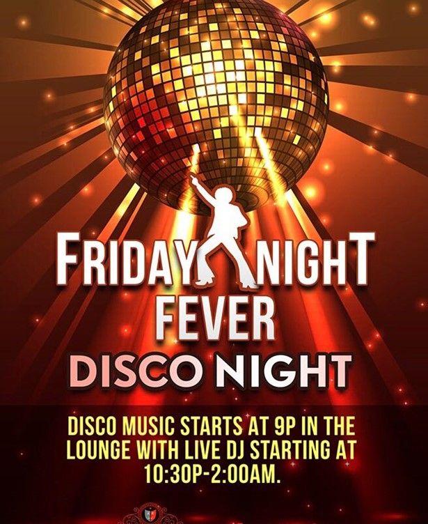 Friday Night Fever Disco Night