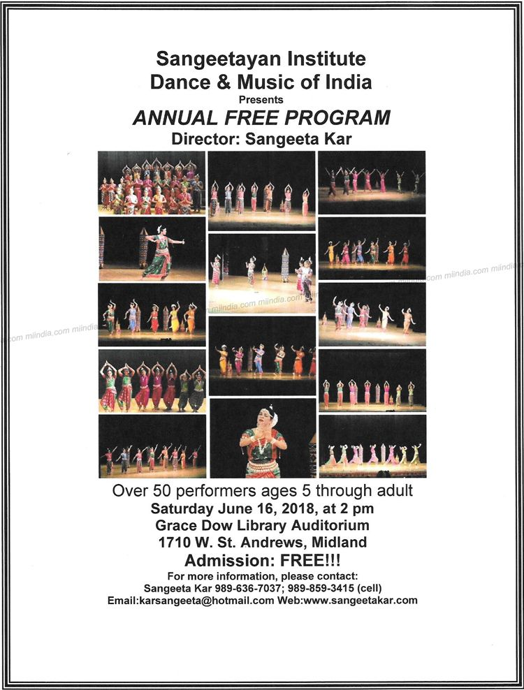 Annual Free Program by Sangeetayan Institute Dance & Music of India