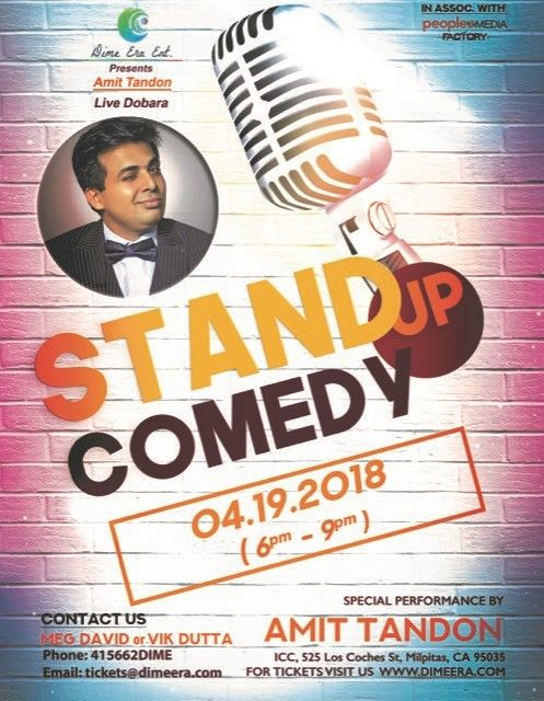 Amit Tandon Stand-Up Comedy Live in Bay Area (On Popular Demand)