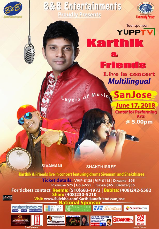 Karthik & Friends Live Concert in San Jose