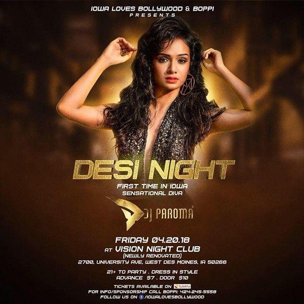 Desi Night with Sensational Diva DJ Paroma