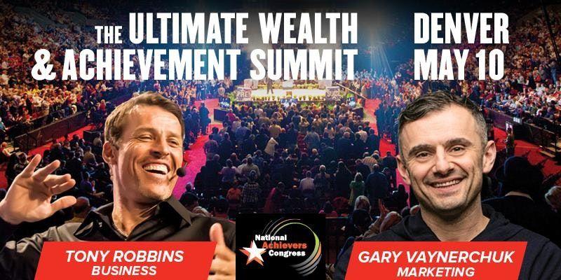Tony Robbins and Gary Vaynerchuk Live! Denver
