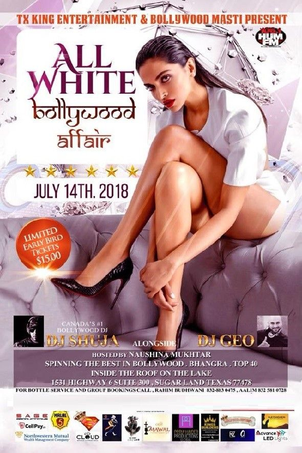 All White Bollywood Affair Party