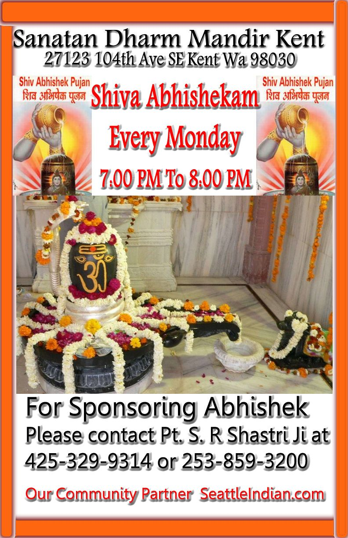 Shiva Abhishekam Every Monday