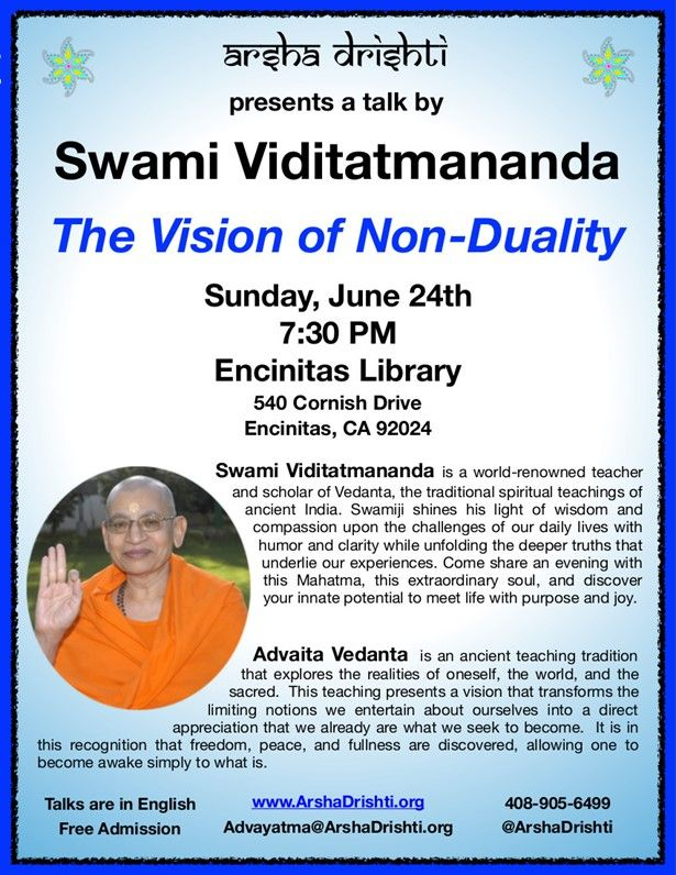 The Vision of Non-Duality - An Evening with Swami Viditatmananda