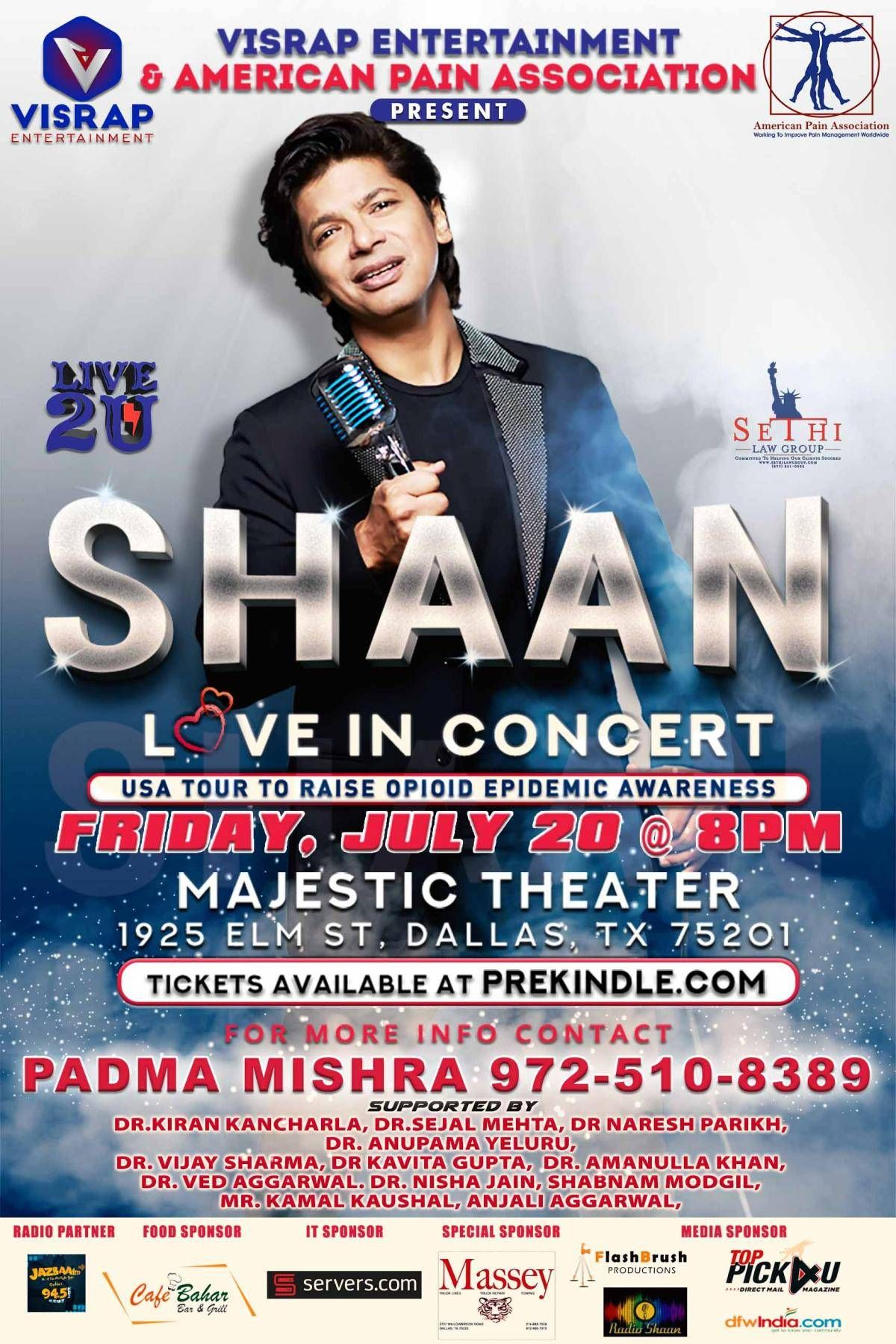 Shaan Love in Concert - Dallas