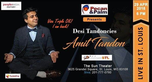Amit Tandon Stand Up Live in St. Louis