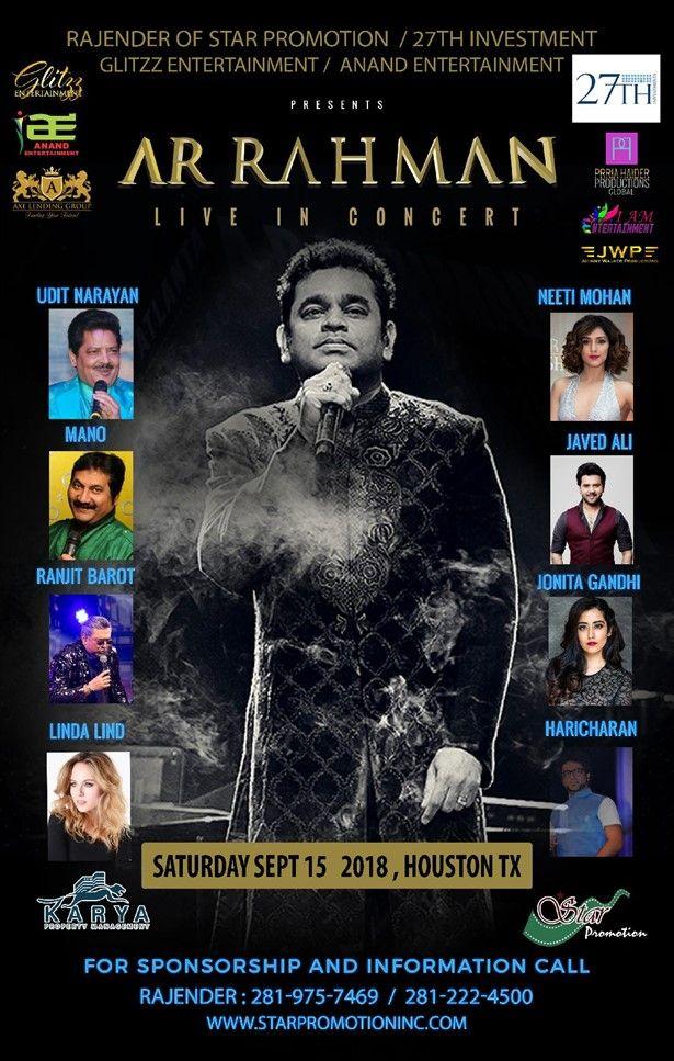 AR Rahman Live Concert 2018 Houston
